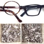charnières de lunettes