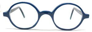 lunettes rondes bleues