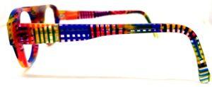 Branche de lunettes colorée