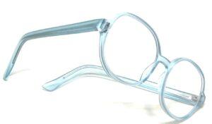 grandes lunettes bleues
