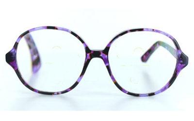 Grandes lunettes violettes