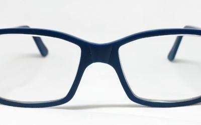 lunettes bleu-mat