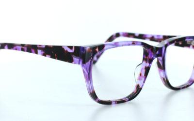 Lunettes rectangulaires violettes
